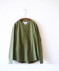 MUYA / Stand collar Nerd shirts - Khaki
