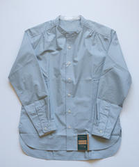 Handwerker /  collerless shirt - Bluegray