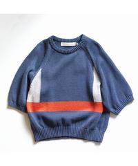 ASEEDONCLOUD /  Knit T-shirt - BLUE