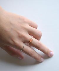 jemstone ring - オレンジムーンストーン