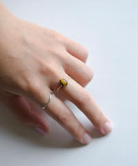 jemstone ring - イエロータイガーアイ