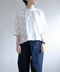 KaIKI  / ドットショートカットソー - WHITE