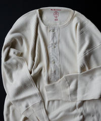 Olde Homesteader / HENLEY NECK (LONG SLEEVE) - SWEDISH ARMY RIB - IVORY