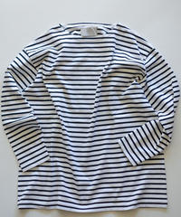 <2色展開> MUYA / Crew neck Straight Long Sleeve Border