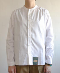 【再入荷】 Handwerker /  collerless shirt - White