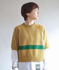 ASEEDONCLOUD /  Knit T-shirt - YELLOW