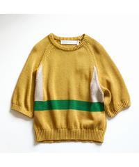ASEEDONCLOUD /  Knit T-shirt - YELLOW