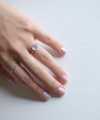 jemstone ring - ブルーカルセドニー