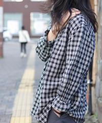 MUYA / Atelier shirts relax stand collar - Black