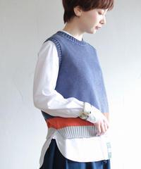 ASEEDONCLOUD /  Knit Vest - BLUE