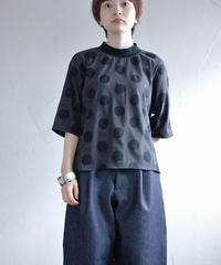 KaIKI  / ドットショートカットソー  BLACK