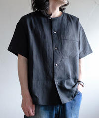 <全2色>Tailor the dress / Nocollar Wide shirts