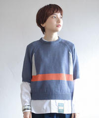 ASEEDONCLOUD /  Knit T-shirt - BLUE