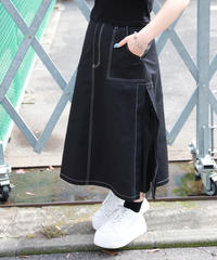 レース配色スカート(630302)