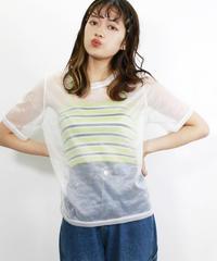 ロゴ入りシアーTシャツ(639044)