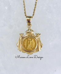 24K 幻の1点物 キングカメハメハコイン ハワイ王国紋章 ハワイコイン ペンダントトップ ($2800)