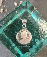 シルバー.999純銀 1点物 ハワイ最後の女王 リリウオカラニ女王  ハワイコイン ペンダントトップ ($198)