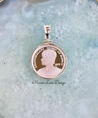 2010年 シルバー.999純銀 1点物 ハワイ最後の女王 リリウオカラニ女王 ハワイコイン ペンダントトップ ($298)
