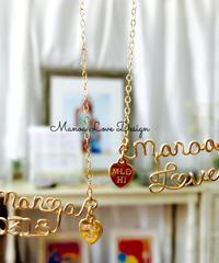 Manoa Love Design 14K  ダブルカスタムネームネックレス ($328)