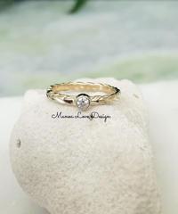 14K マイレリーフリング ダイヤモンド($628)