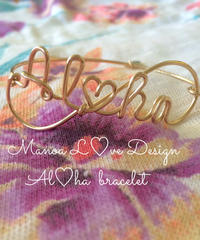 Manoa Love design/14K Gold f Al♡haブレスレット