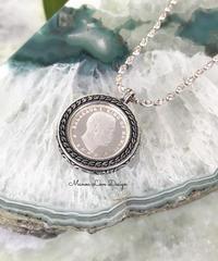世界に一つの1点物 シルバー999純銀 ハワイカラカウア王コインネックレス( $1280)
