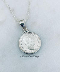 シルバー.999純銀  1点物 カラカウア王 ハワイコインネックレス($398)