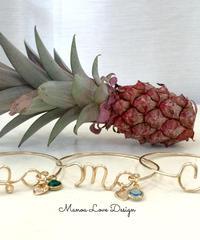 Manoa Love Design/14K gf イニシャルブレスレット