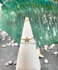14k ダイヤモンドカット ヒトデリング ($188)