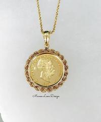 18K  1点物 カラカウア王  ハワイコイン ペンダント($3800)