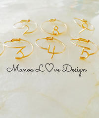 Manoa L♡ve Design/14K gf ナンバーリング ($58)