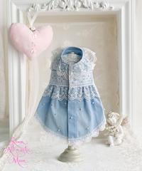 【 Picnic of Marie Antoinette】Robe en jean (ローブアンジーン)Bleu ブルー P/XS/S