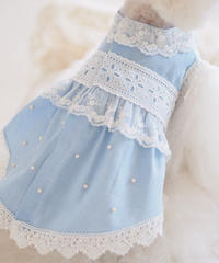 【 Picnic of Marie Antoinette】Robe en jean (ローブアンジーン)Bleu ブルー M/L