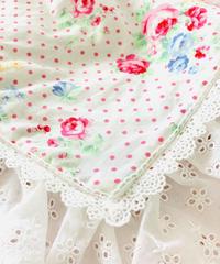 【Cafe Mat】Lovely Flower fabric Cafe mat(ラブリーフラワーファブリックカフェマット)