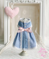 【Picnic of Marie Antoinette】Sweet Vichy Dress (スィートヴィシードレス) Blue(ブルー)Mサイズ
