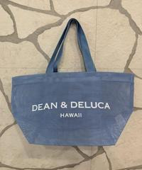DEAN &  DELUCA  MESH TOTE MINI 【HAWAIIAN BLUE】