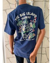 ALOHA MADE   MEN'S半袖Tシャツ The  Big  Island 202MA1ST061【NAVY】