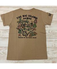 ALOHA MADE   MEN'S半袖Tシャツ The  Big  Island 202MA1ST061【BEIGE】