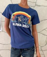 SURF'S   UP   半袖Tシャツ Aloha Dogs 202SU2ST104【NAVY】