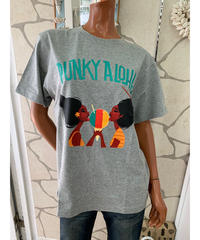 PUNKY ALOHA  MEN'S半袖Tシャツ  SHAVE ICE GIRLS 202PA1ST039【GRAY】