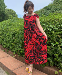 MOANI DRESS 91083【RED】