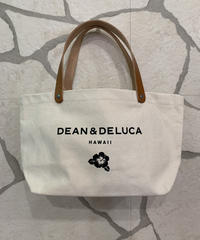 DEAN &  DELUCA LEATHER HANDLE  SMALLTOTE  【NATURAL】