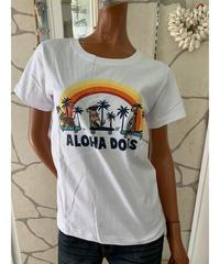 SURF'S   UP  半袖Tシャツ Aloha Dogs 202SU2ST104【WHITE】