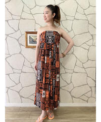 MAOTAHITI DRESS   MKD-0011TH【BROWN】