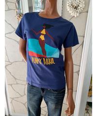 PUNKY ALOHA  半袖Tシャツ SURFFING BIG RED   202PA2ST036【NAVY】