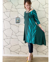 TANOA        RAGLAN DRESS   OLIOLI      4839【GREEN】
