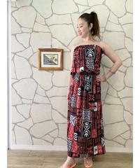 TAHITI DRESS   MKD-0012TH【RED】