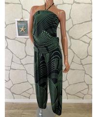 Kuulei Hawaii アラジンパンツKUOP-2001B【BLACK/GREEN】