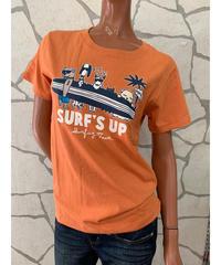 SURF'S   UP  半袖Tシャツ SURF'S UP 202SU2ST106【ORANGE】