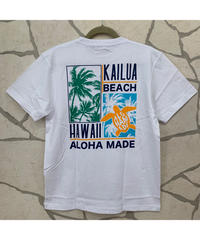 ALOHA MADE   MEN'S半袖Tシャツ  Kailua Beach 202MA1ST067【WHITE】